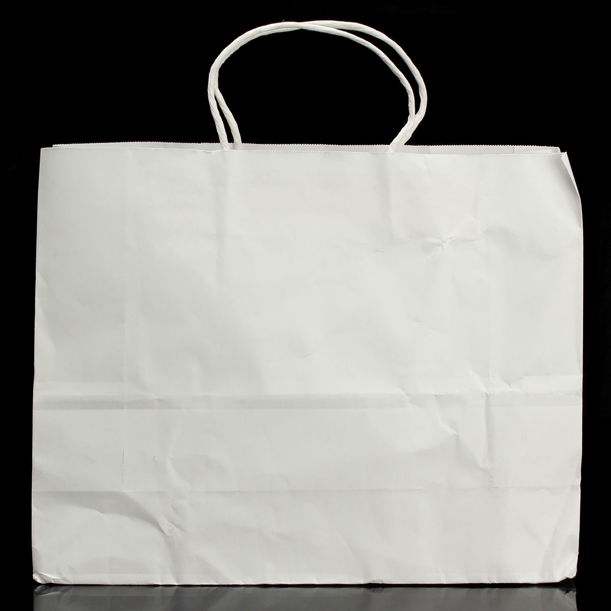 1/3/5 White Kraft Handle Twisted Paper Merchandise Recyclable Shop Bags 3 Sizes
