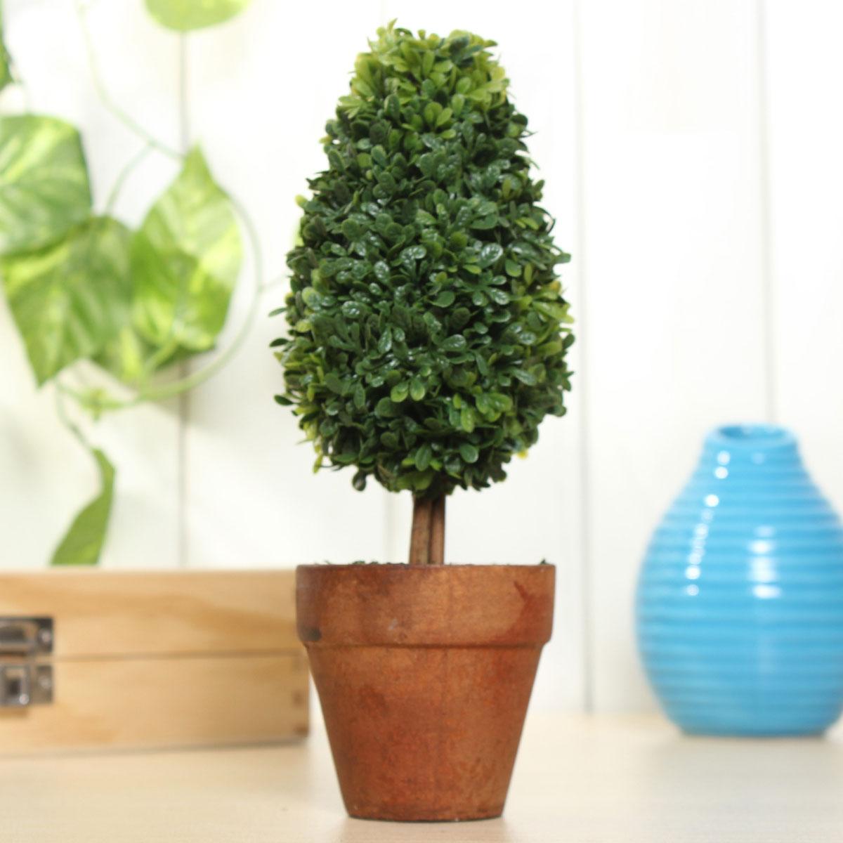 "8"" Plastic Grass Ball Topiary Tree Pot Dried Plant Wedding Party Garden Decor"