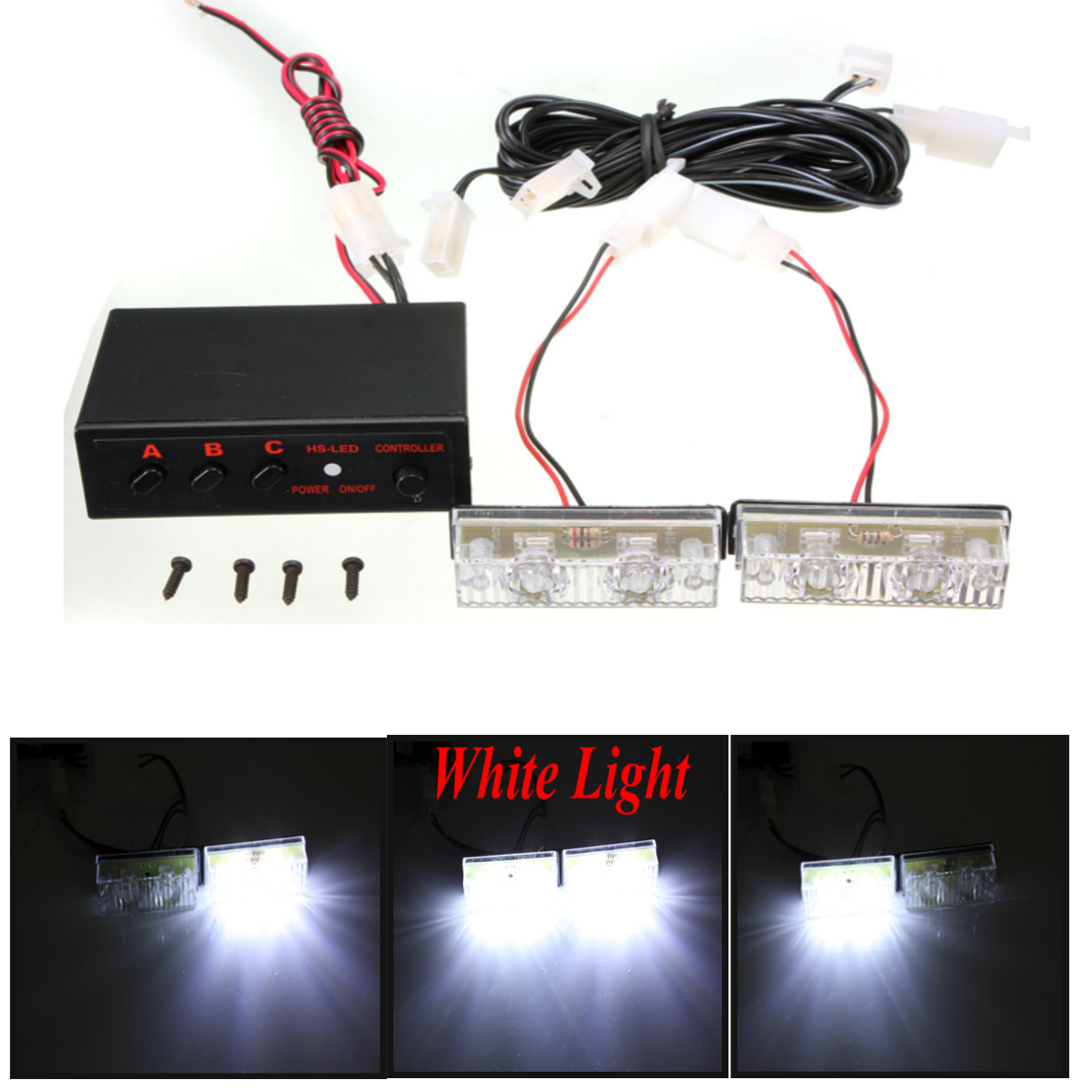 emergency warning recovery strobe led lights grill. Black Bedroom Furniture Sets. Home Design Ideas