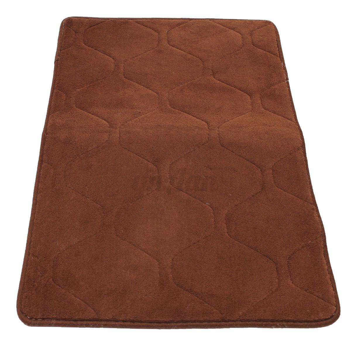 tapis shaggy entree sol velour corail antid rapant absorbant salle de bain salon ebay. Black Bedroom Furniture Sets. Home Design Ideas