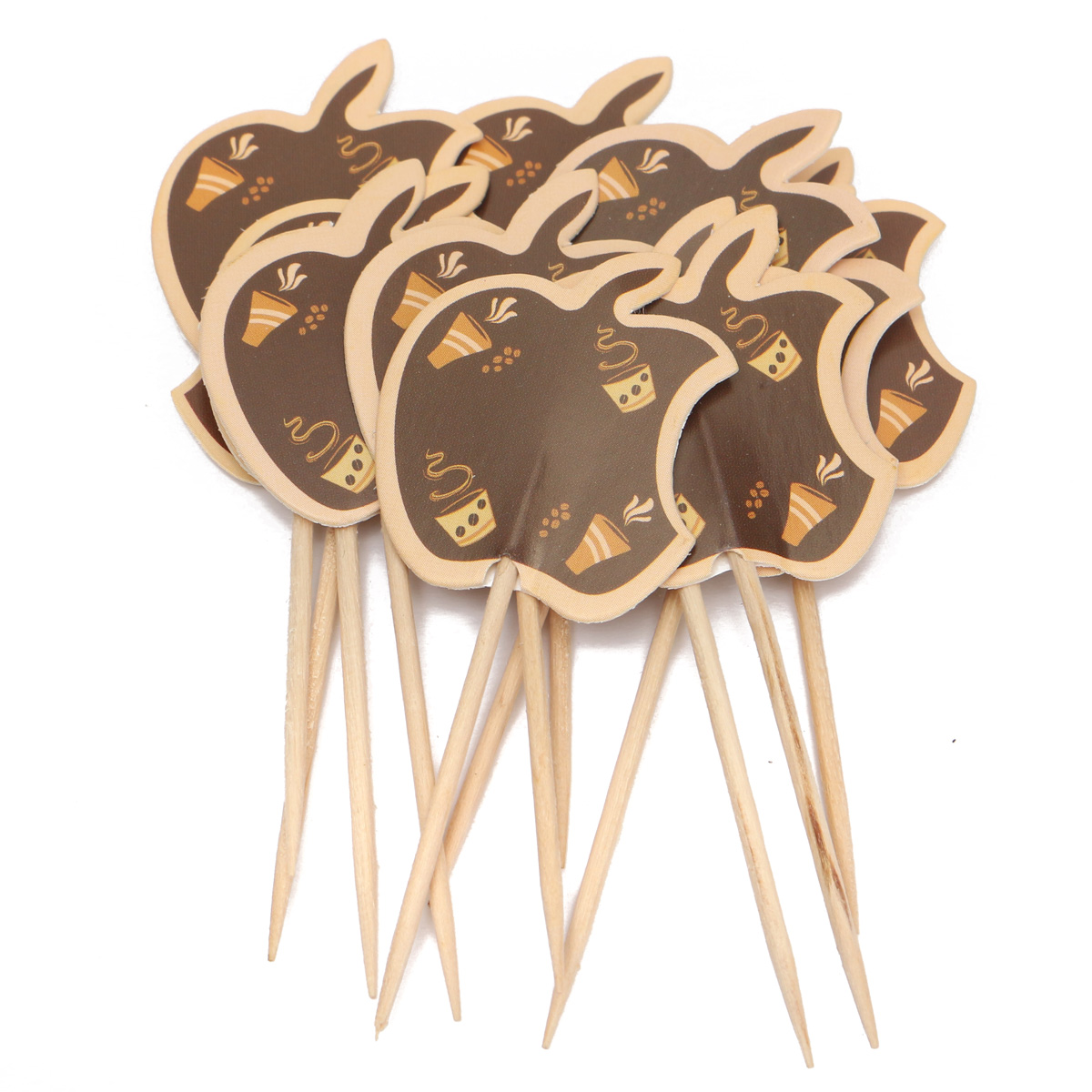 12pcs Paper Cupcake Food Picks Cocktail Sticks Toppers ...
