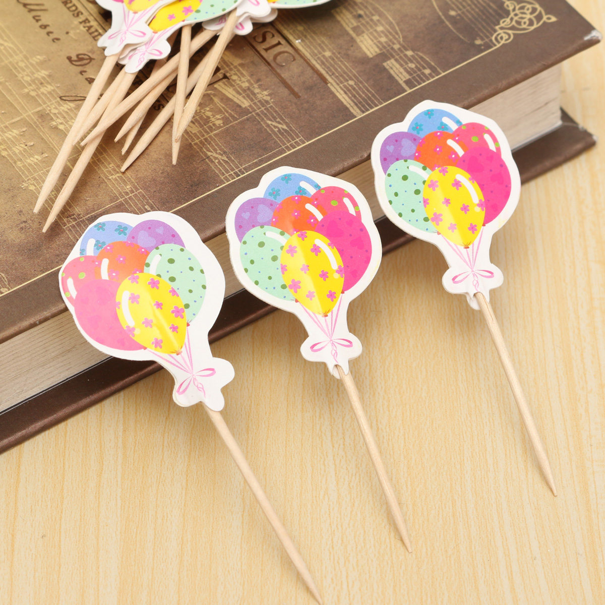 Cake Decoration Sticks : 12pcs Paper Cupcake Food Picks Cocktail Sticks Toppers Birthday Cake Decoration eBay