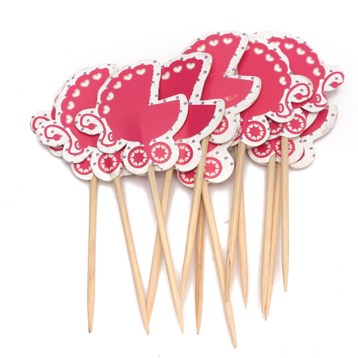 Cake Decoration Sticks : 12pcs Paper Cupcake Food Picks Cocktail Sticks Toppers ...