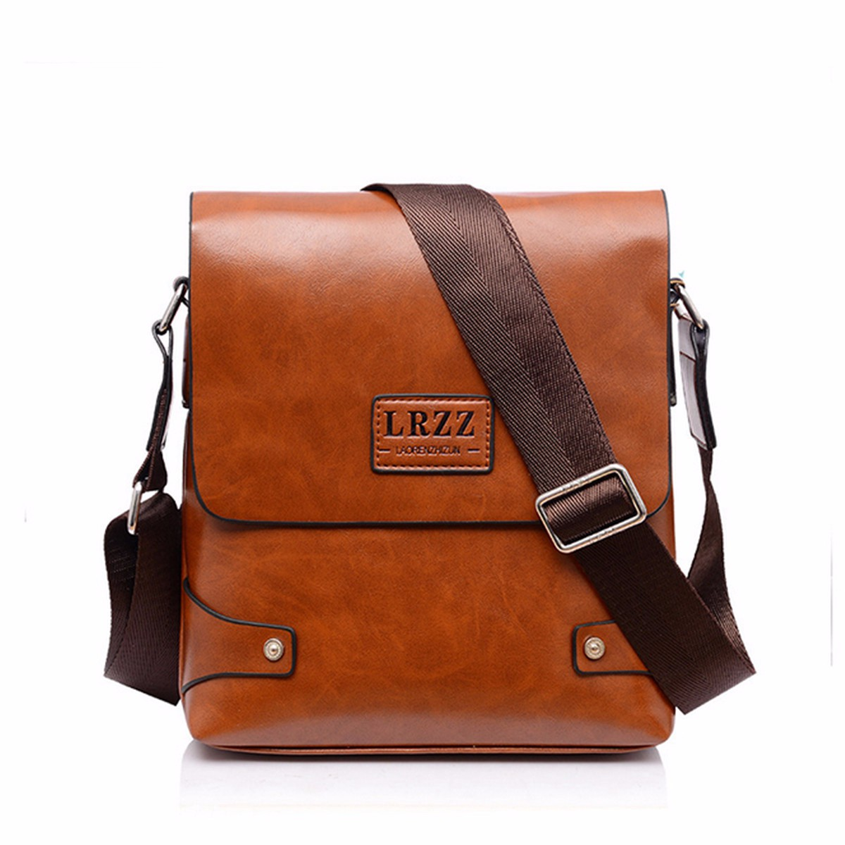 Men Leather Briefcase Casual Business Messenger Shoulder Bag ...