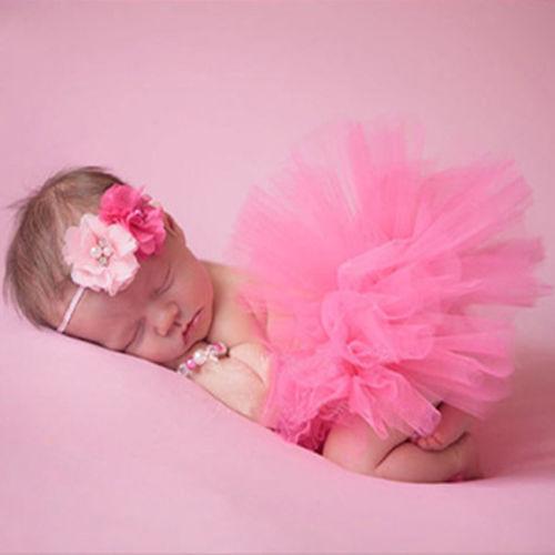 nouveau n b b fille fleur tutu v tements jupe coiffure fleurs photo prop outfits ebay. Black Bedroom Furniture Sets. Home Design Ideas