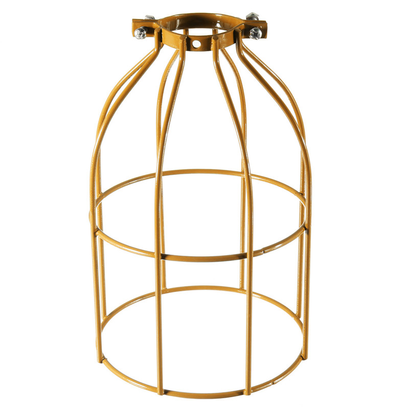 Steel Bulb Cage Clamp On Metal Lamp Guard For E27 Vintage