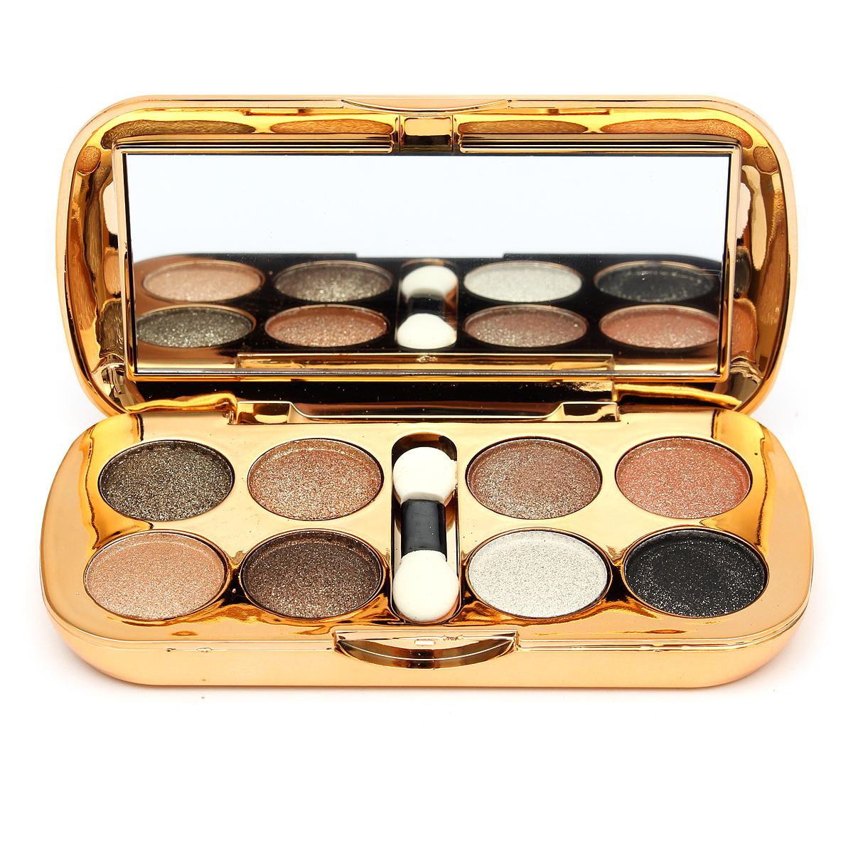 8 Colors Glitter Eyeshadow Powder Makeup Palette Set ...