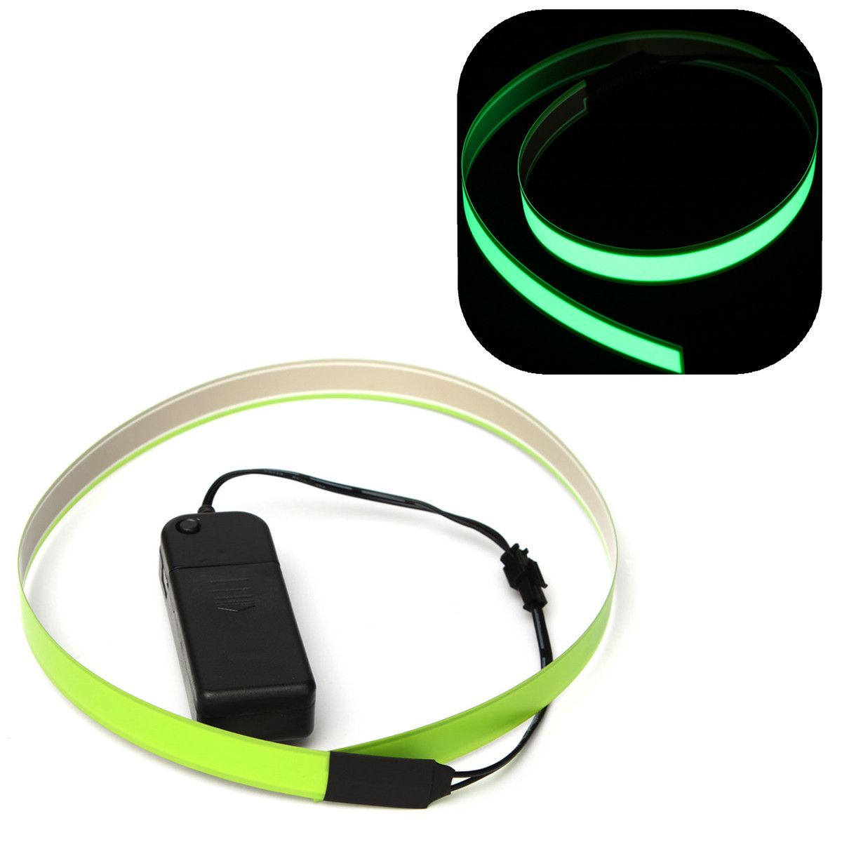 Electroluminescent Tape EL Wire Strap Glowing w/ 3V AA Battery ...