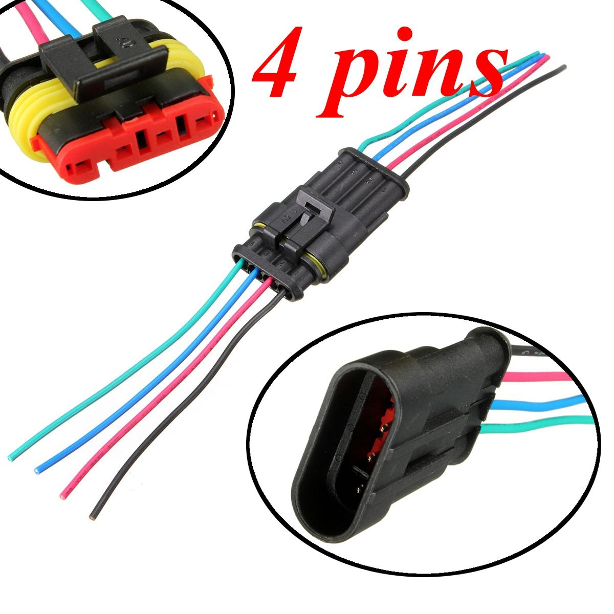 1/2/3/4/5/6 Pin Waterproof Car Motorcycles Electrical Connector Plug ...