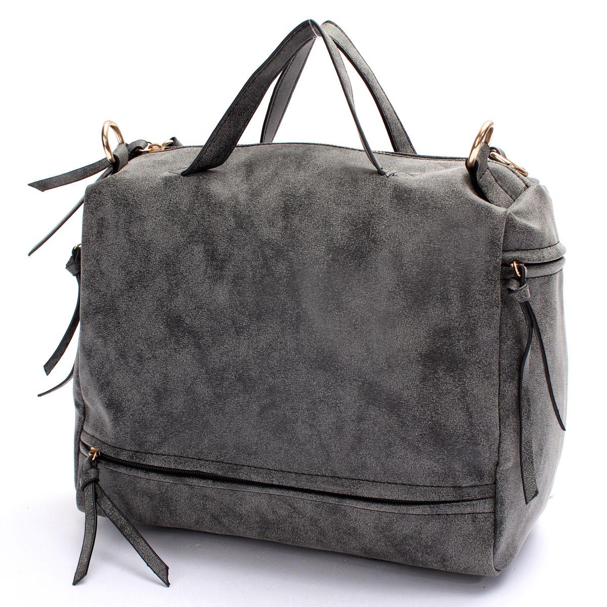 Women Lady Nubuck Leather Shoulder Bag Tote Handbag Messenger Crossbody Satchel