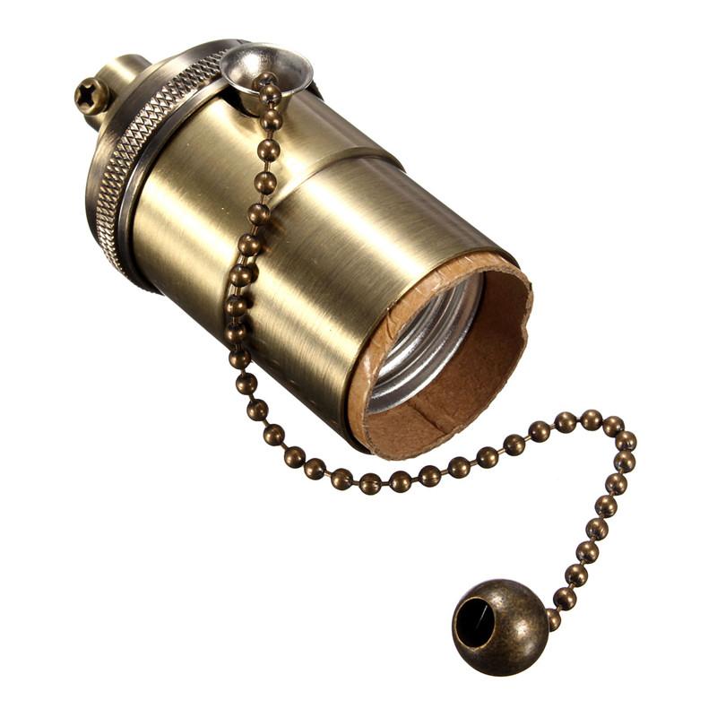 light socket holder pull chain vintage edison lamp pendants ebay. Black Bedroom Furniture Sets. Home Design Ideas