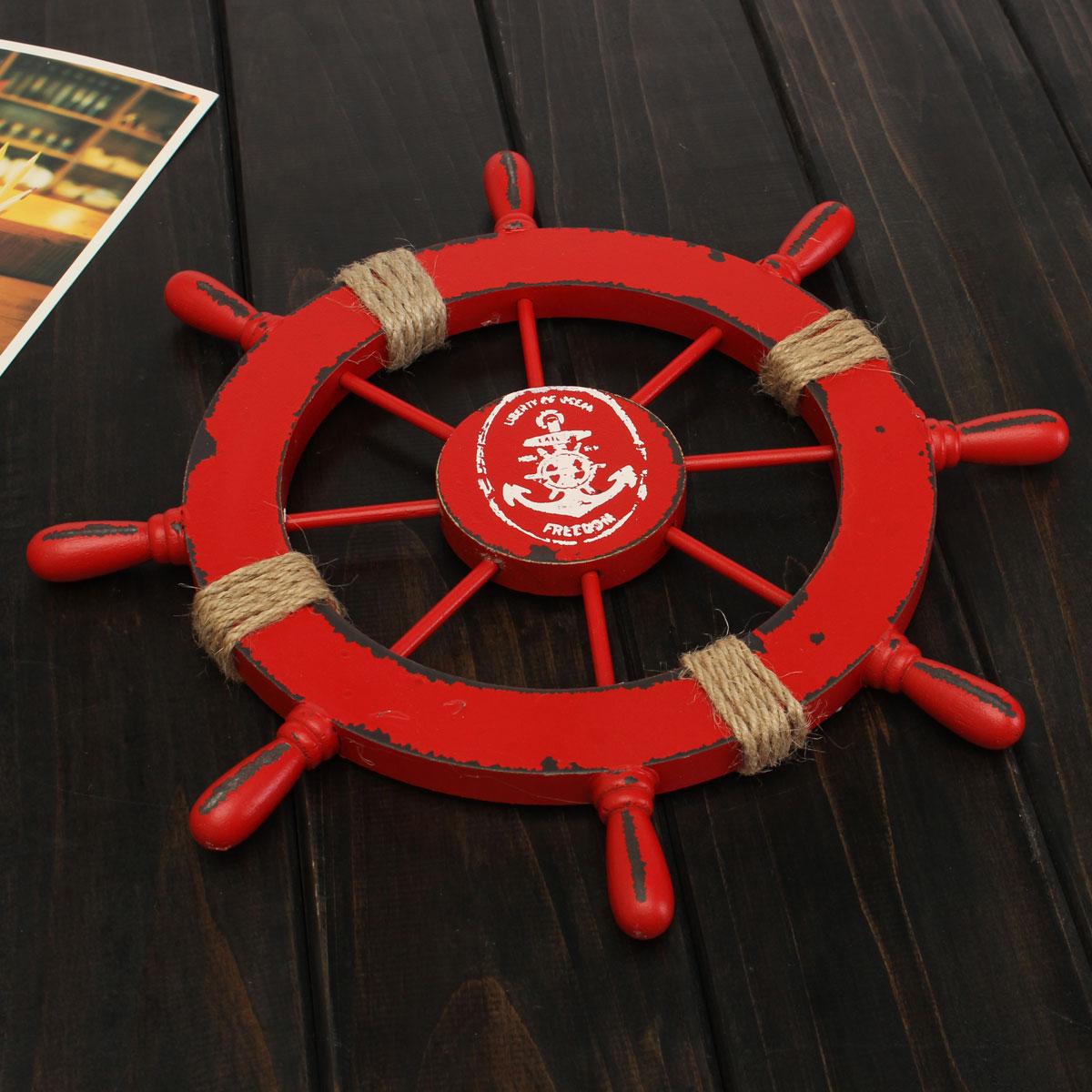 Wow barca timone in legno 28cm arredamento casa mare for Arredamento barca