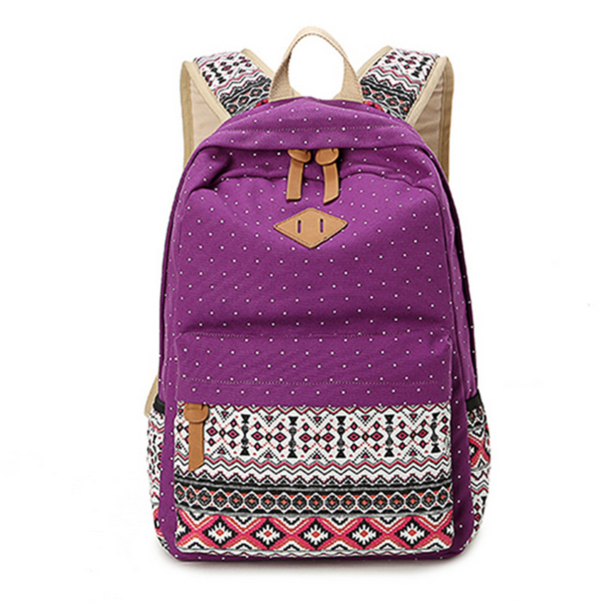 New Ladies Girls Canvas Vintage Backpack Rucksack College ...