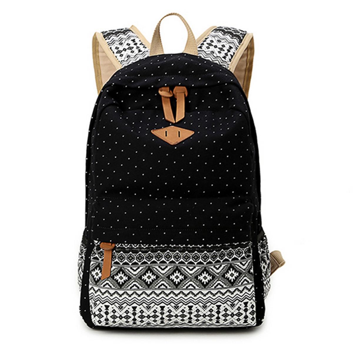 School bag for girl - New Ladies Girls Canvas Vintage Backpack Rucksack College Shoulder School Bag Uk Ebay