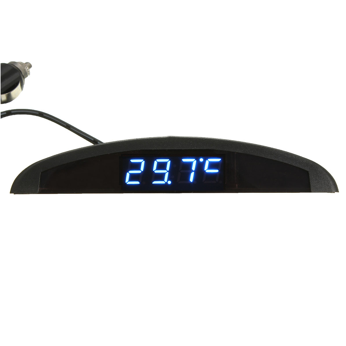 New 12V 3 In 1 Function LED Digital Auto Clock /Digital Voltmeter /Thermometer
