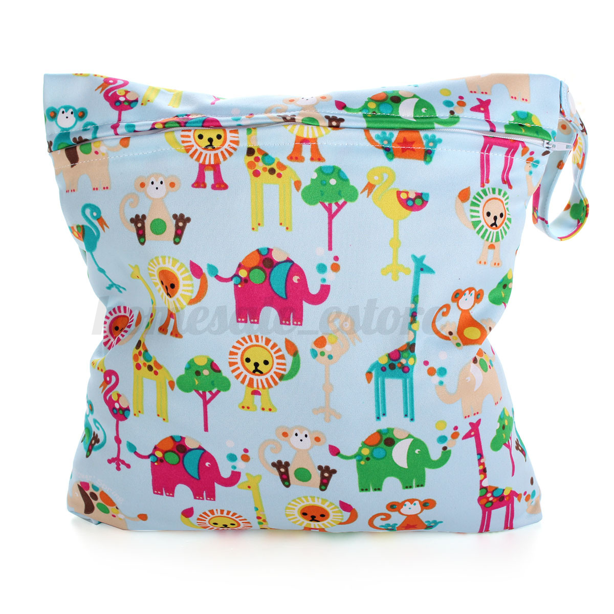 Kids Diaper Bag : Waterproof zipper baby kids cloth diaper bag nappy wet dry