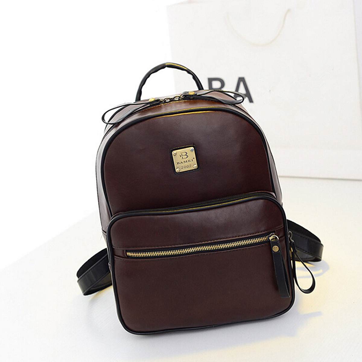 NEW Fashion Women Leather Backpack School Bags Satchel ...