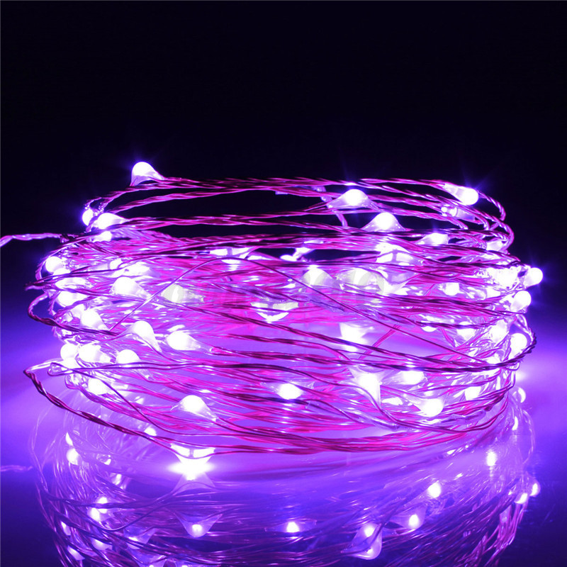 10m 100 led copper wire warm white string fairy light dc12v