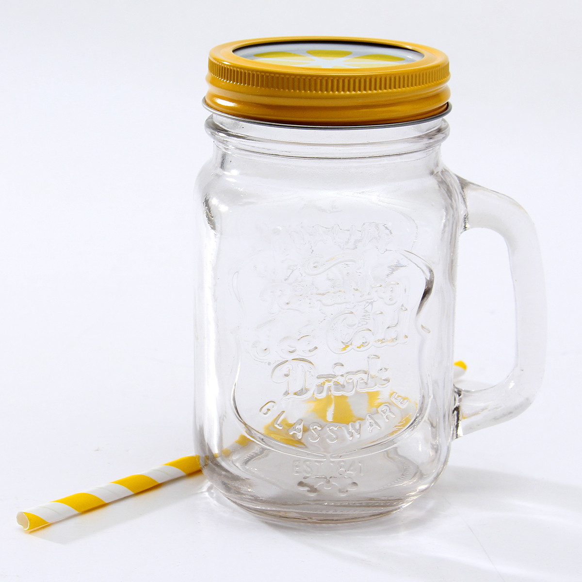 Vintage Wedding Ideas Mason Jars: Vintage Chic Mason Jar Handle Lid Straw Drinking Mug Glass