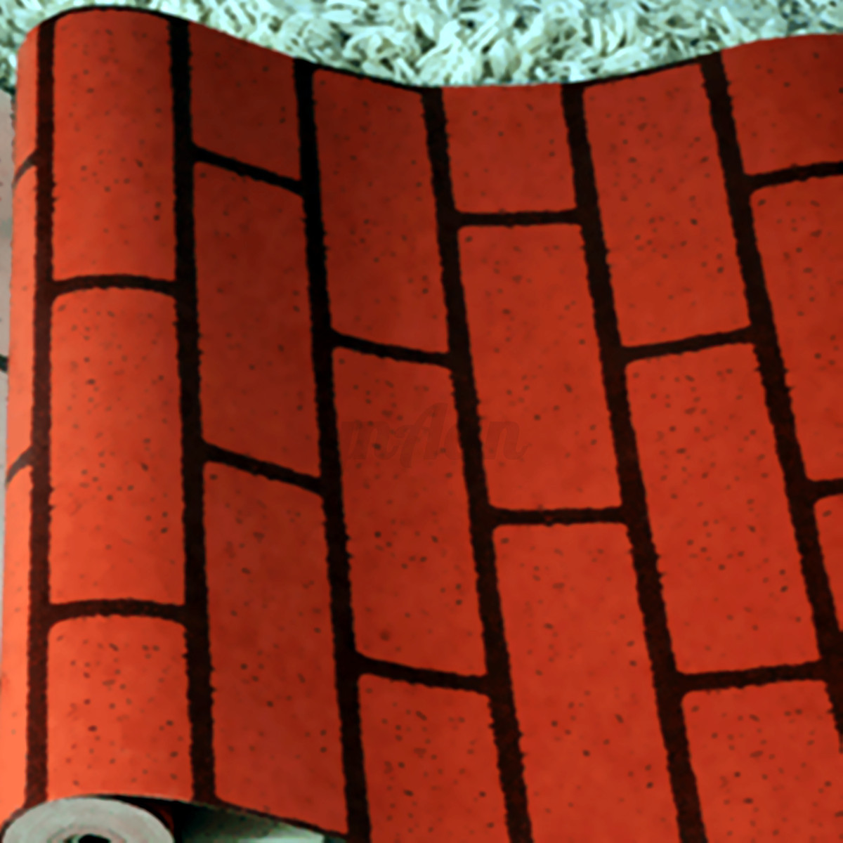 Modern 3d effect natural embossed stone brick tile vinyl for 3d effect wallpaper for home