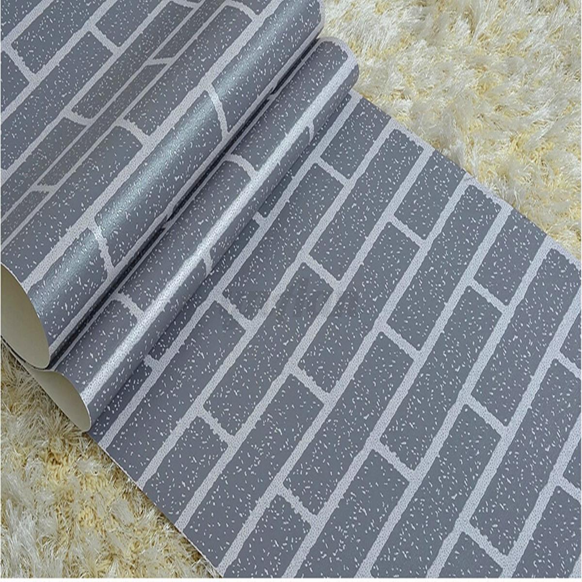 Modern 3d effect natural embossed stone brick tile vinyl for 3d pvc wallpaper