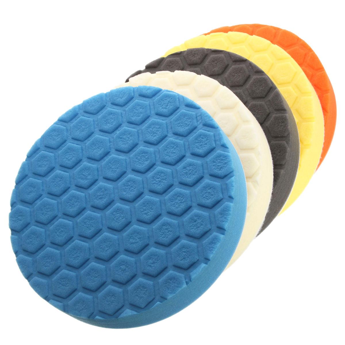 4/5/6/7 Inch Hex-Logic Sponge Polishing Pad Buffing Kit