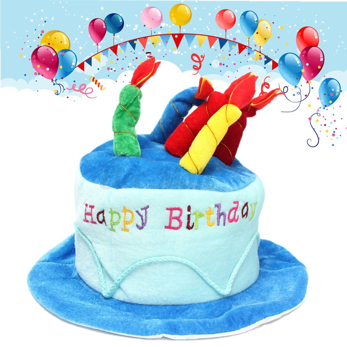 Adult Size Happy Birthday Plush Cake Hats Novelty Cap Jpg 1200x1200 For Adults