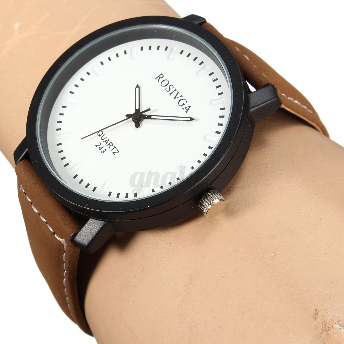 herren damenuhr retro lederarmband uhr pu leder armbanduhr quarzuhr gro analog ebay. Black Bedroom Furniture Sets. Home Design Ideas