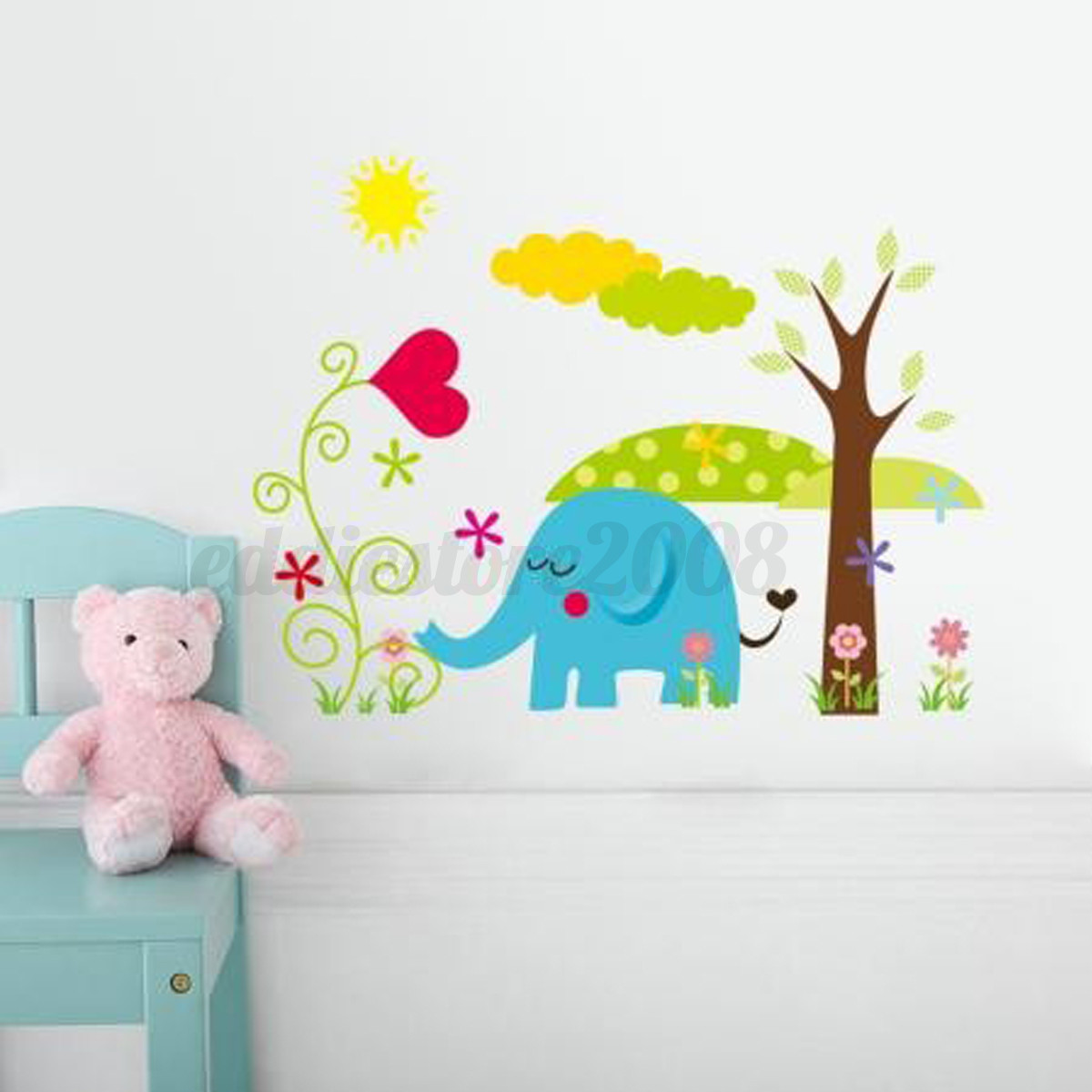Diy Wall Decor For Baby : Diy jungle animal removable wall sticker decal kid baby