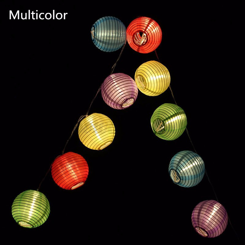10led lampion lichterkette laterne weihnachten party garten innen au en batterie ebay. Black Bedroom Furniture Sets. Home Design Ideas