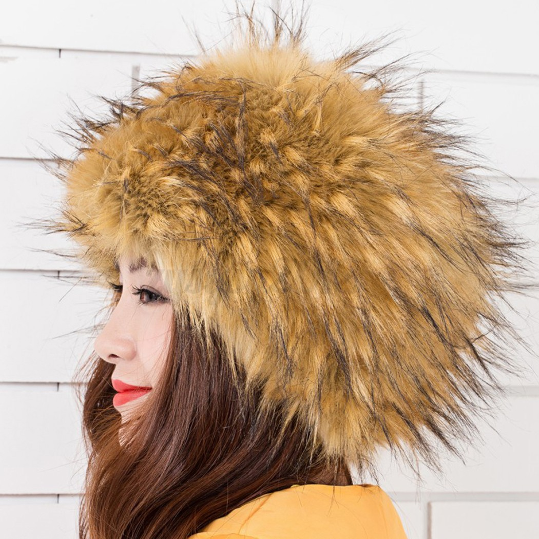 For those women wishing to be trendy and flaunt their own style even in cold winter. This -Russian style-Golden fire fox fur hat is so warm, trendy, fluffy and very high quality.