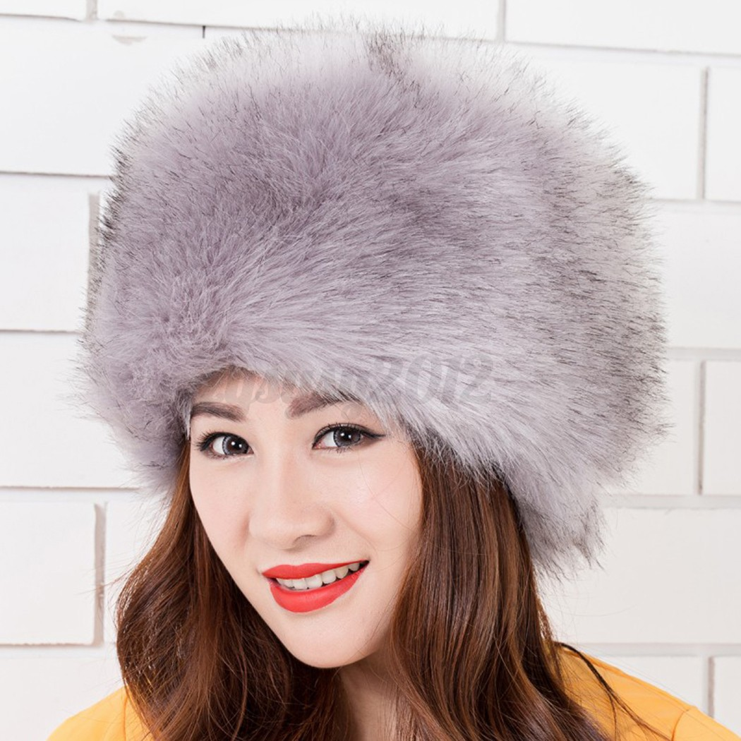 womens glamorous faux fur russian cossack hat