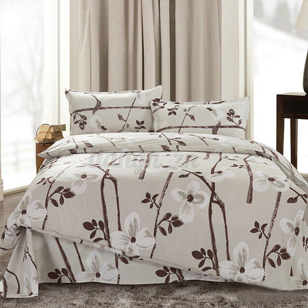 3 4pcs couvre taies oreiller parure de lit couverture for Housse couette couvre lit