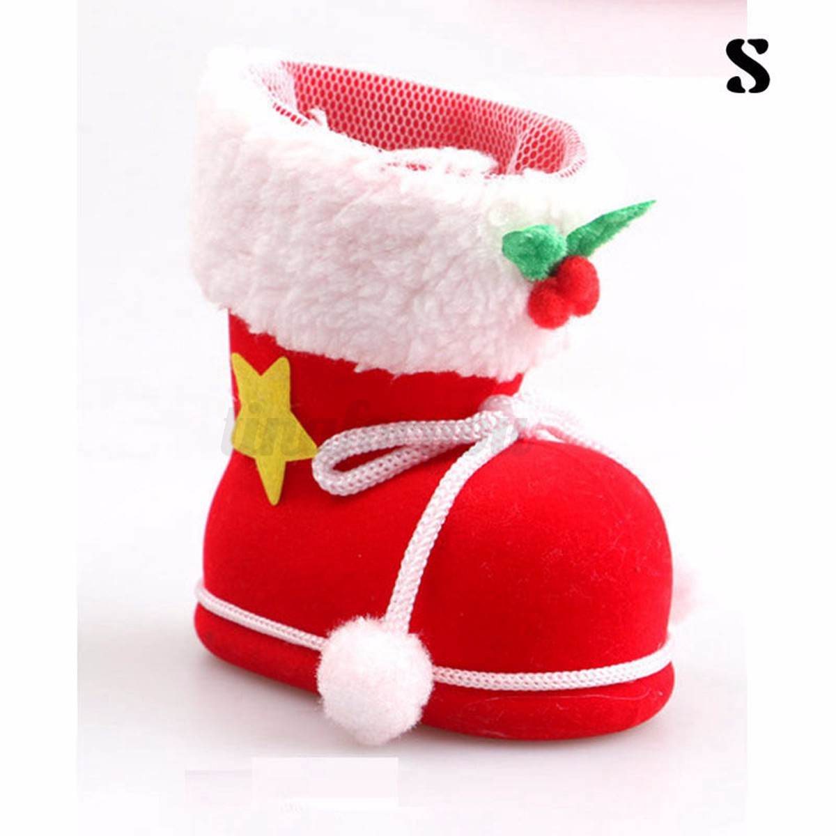 Christmas santa boot candy gift bag party stocking tree