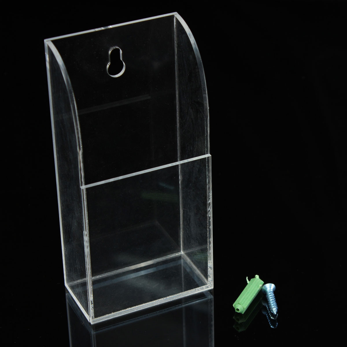 Clear TV Air Conditioner Remote Control Storage Box Holder Wall Mount  #46854A