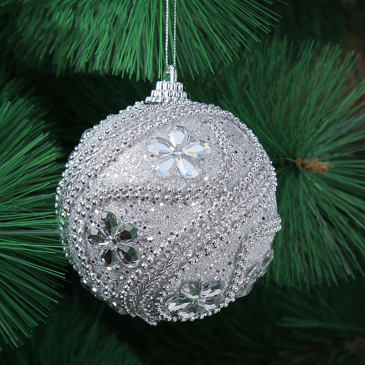 Christmas trees crystal rhineston ball bauble xmas hanging for Crystal baubles christmas