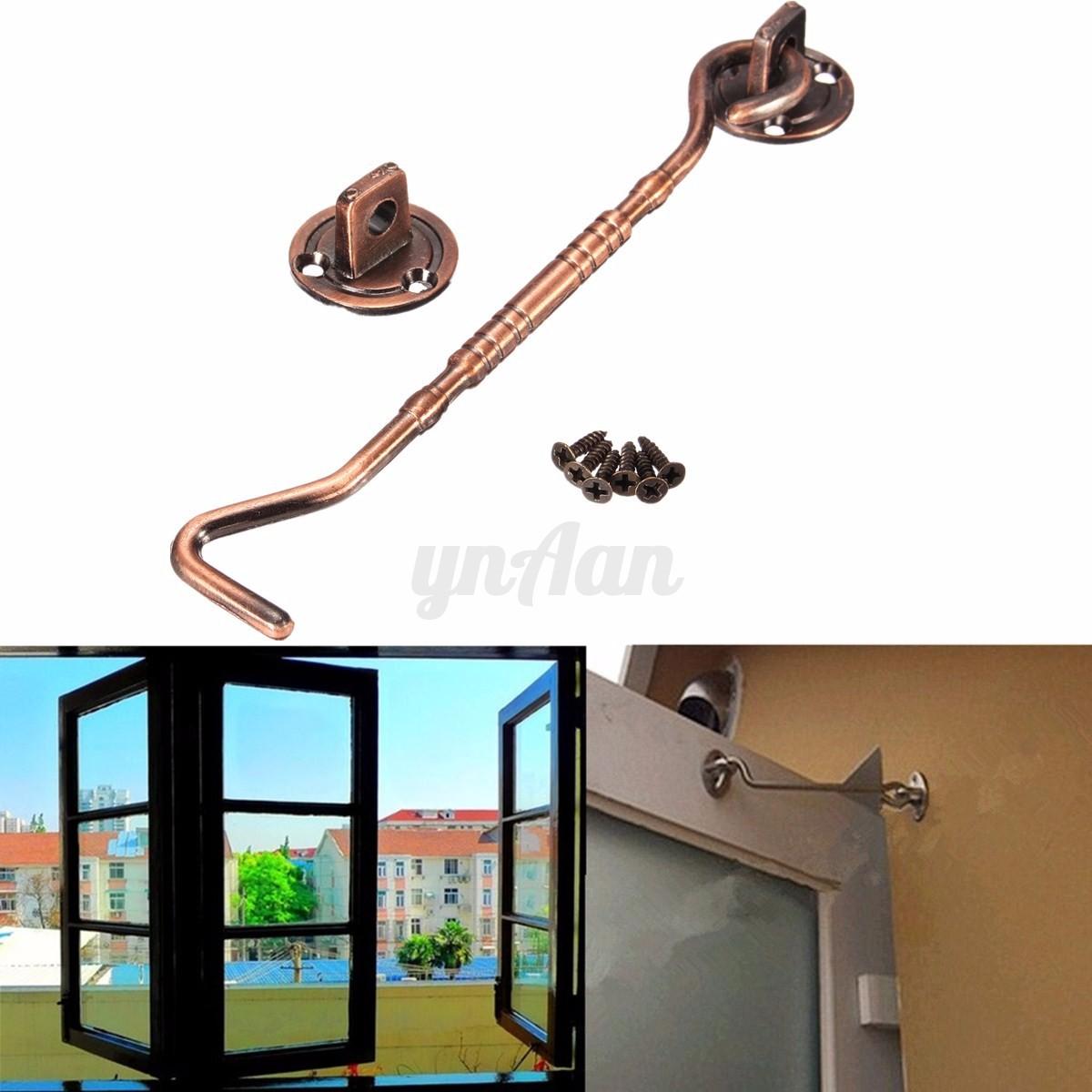 6 39 39 verrou loquet s curit crochet il anti vent alliage zinc pr porte fenetre ebay. Black Bedroom Furniture Sets. Home Design Ideas
