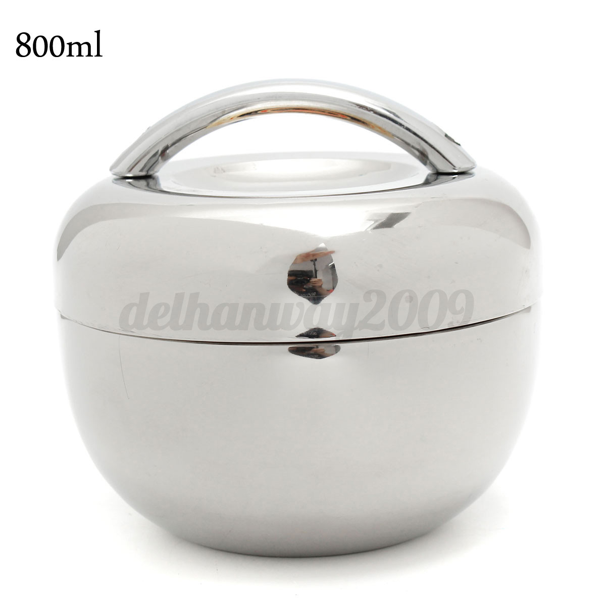 2 Layers Thermal Insulation Stainless Steel Bento Lunch Box Food Container New