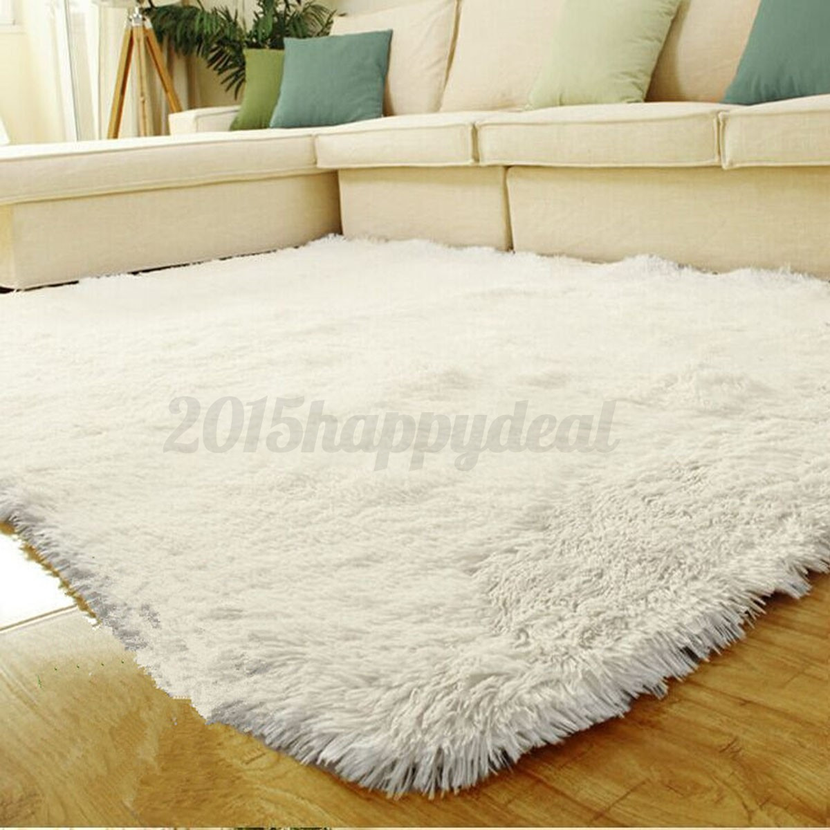 Fluffy Anti-skid Shaggy Area Rug Carpet Home Bedroom Floor