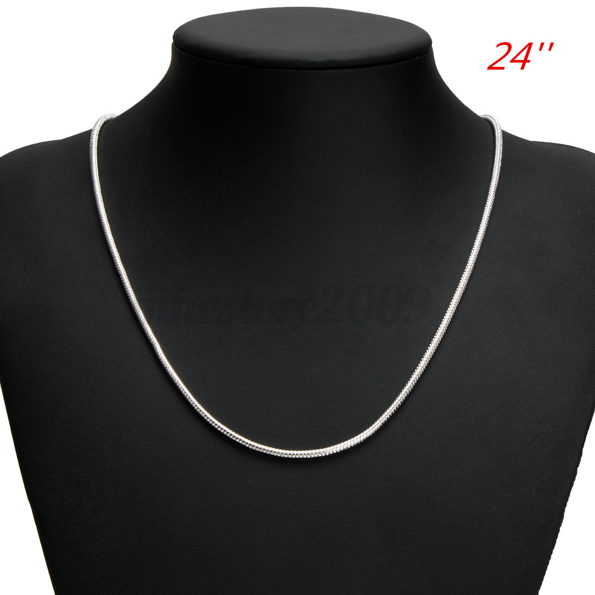 1MM 925 18/'/' 24/'/' Solid Sterling Silver Snake Strong Chain Necklace Lover