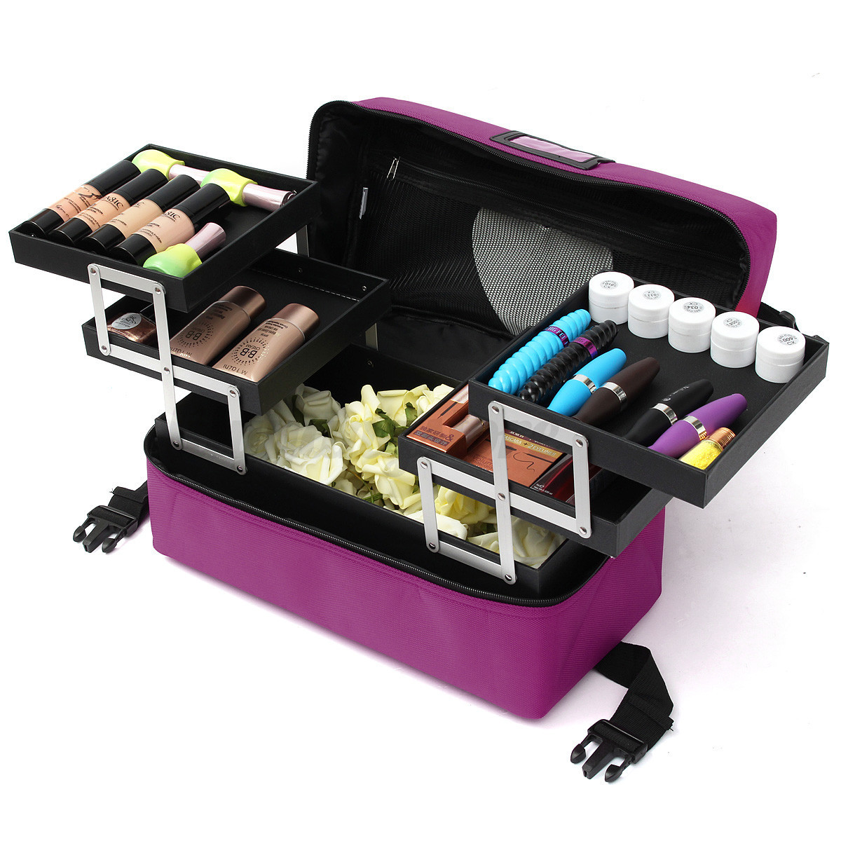 Travel Makeup Train Case Jewelry Box Cosmetic Organizer