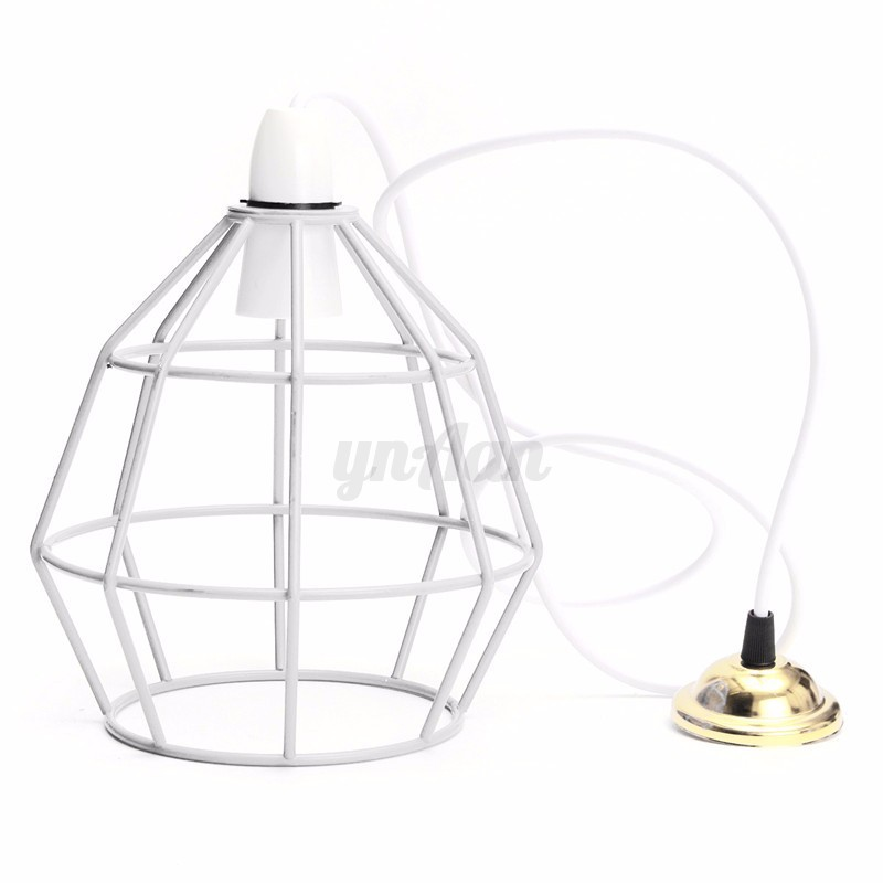 B22 Vintage Industrial Style Metal Cage Wire Ceiling