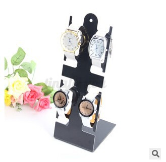 4 slots shop clear plastic watch bracelet display stand for Vitrine plastique transparent