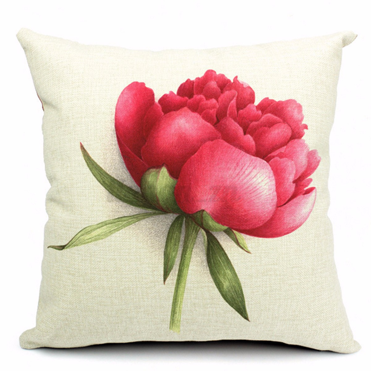 Housse coussin taie d 39 oreiller fleur rose sofa voiture for Housse voiture rose