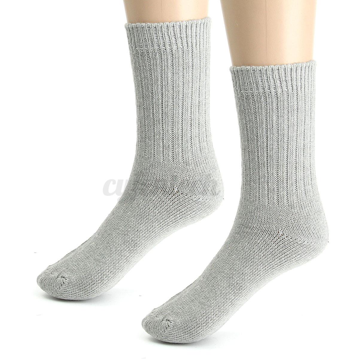 thicken men 39 s warm winter socks chaussettes laine homme collants chaude doux uni ebay. Black Bedroom Furniture Sets. Home Design Ideas