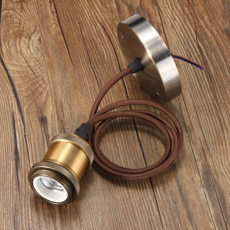e27 e26 1m retro vintage copper light holder pandent lamp socket chandelier ebay. Black Bedroom Furniture Sets. Home Design Ideas