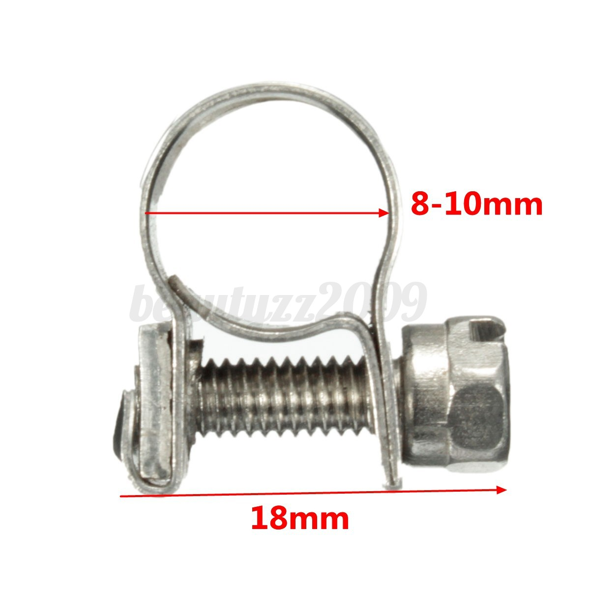 Stainless Steel Mini Fuel Line Pipe Hose Clamp Clip 6mm-20mm All Sizes