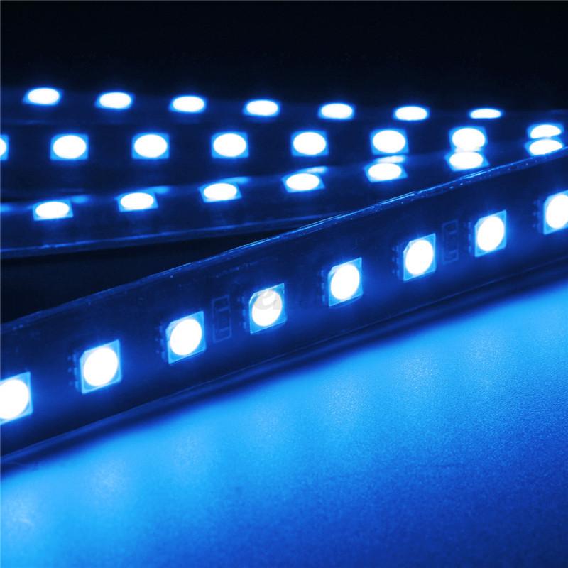 4x kfz auto 2 led 5050smd beleuchtung unterboden strip. Black Bedroom Furniture Sets. Home Design Ideas