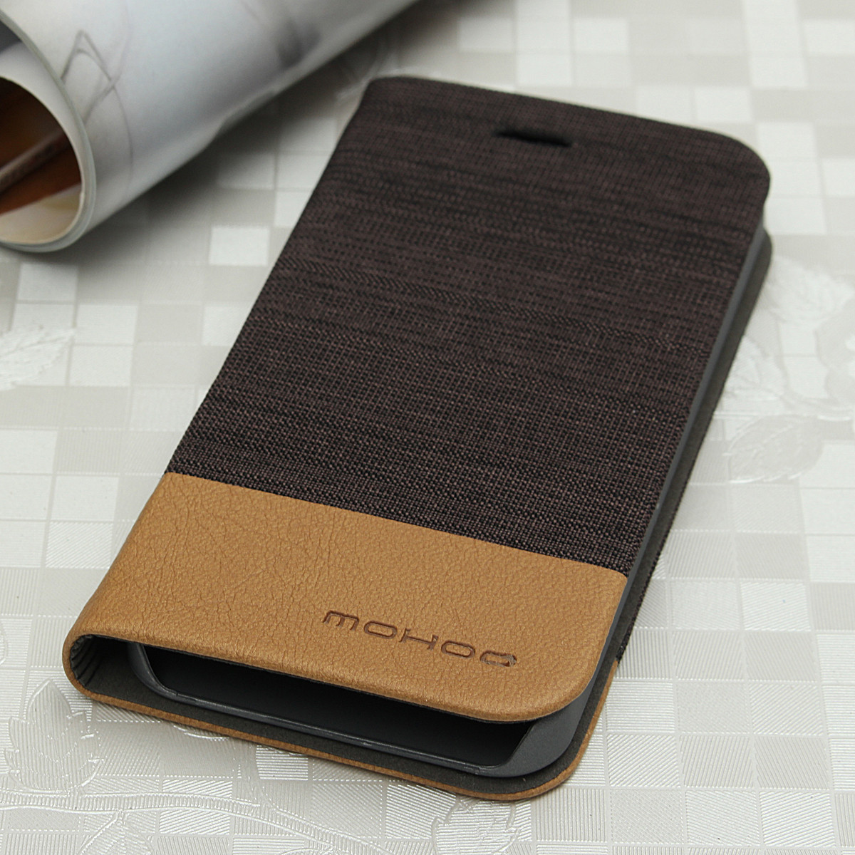 Mohoo PU Leather Slim Case PC Back Cover Card Pocket Stand For Apple iPhone 5 5s