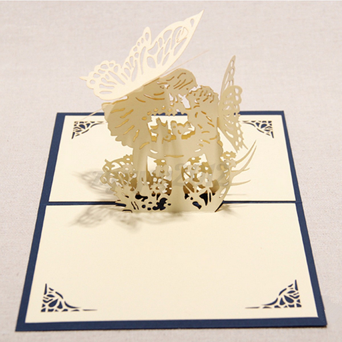 3D Pop Up Greeting Cards Kirigami Happy Birthday Wedding